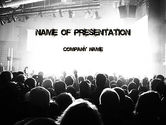 Art & Entertainment: Silhouettes of Concert Crowd PowerPoint Template #11294