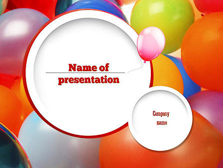Holiday/Special Occasion: Plantilla de PowerPoint - globos de colores #11295