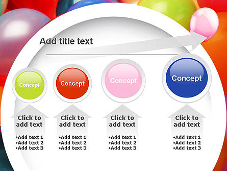 Colorful Balloons PowerPoint Template Slide 13