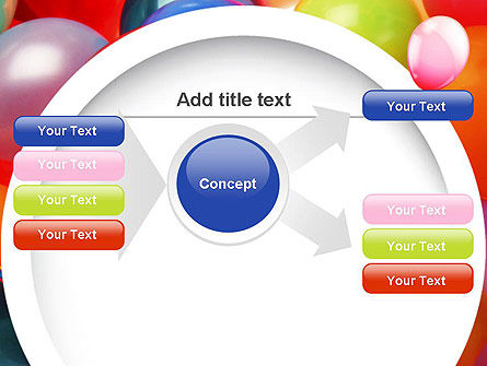 Colorful Balloons PowerPoint Template Slide 14