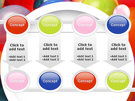 Colorful Balloons PowerPoint Template Slide 18