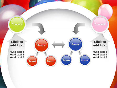 Colorful Balloons PowerPoint Template Slide 19