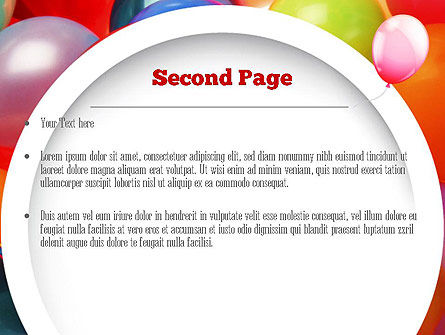 Colorful Balloons PowerPoint Template, Slide 2, 11295, Holiday/Special Occasion — PoweredTemplate.com