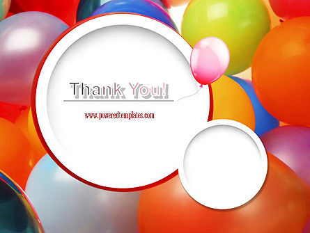 Colorful Balloons PowerPoint Template Slide 20