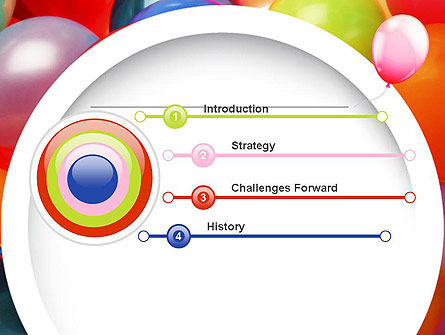 Colorful Balloons PowerPoint Template Slide 3