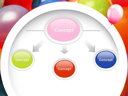 Colorful Balloons PowerPoint Template Slide 4