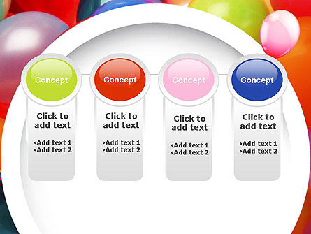Colorful Balloons PowerPoint Template Slide 5