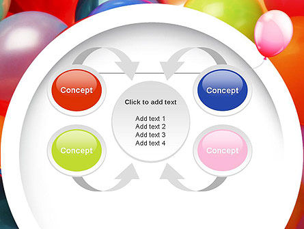 Colorful Balloons PowerPoint Template Slide 6