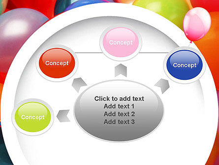 Colorful Balloons PowerPoint Template Slide 7