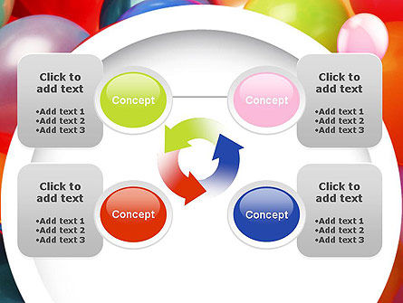 Colorful Balloons PowerPoint Template Slide 9