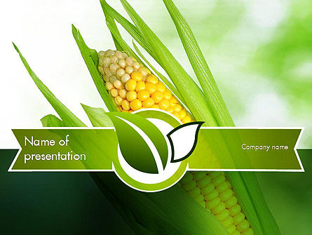 Agriculture: Corn On The Cob PowerPoint Template #11296