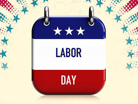 Labor Day Nameplate PowerPoint Template