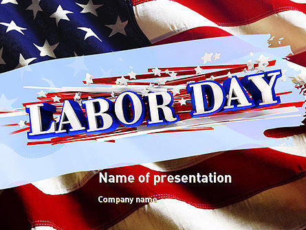 Holiday/Special Occasion: Happy Labor Day PowerPoint Template #11300
