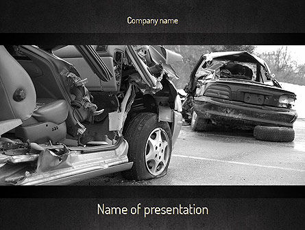 Cars and Transportation: Modello PowerPoint - Incidente d'auto #11301
