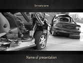 Cars and Transportation: Auto Accident PowerPoint Template #11301