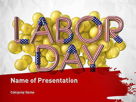 3D Labor Day PowerPoint Template