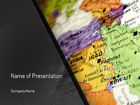Flags/International: Middle East PowerPoint Template #11303