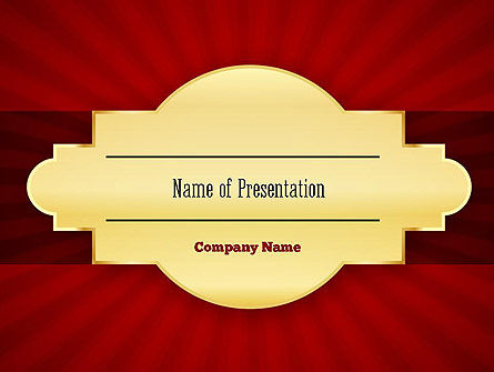 Golden Substrate PowerPoint Template, 11304, Abstract/Textures — PoweredTemplate.com