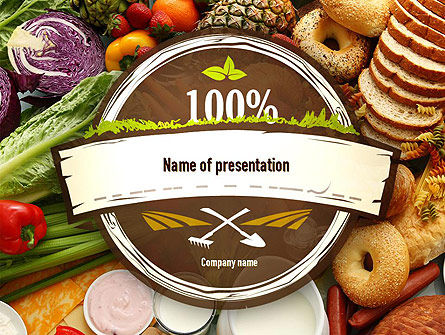 Abundance Of Food PowerPoint Template, 11305, Food & Beverage — PoweredTemplate.com