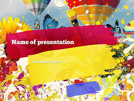 Art & Entertainment: Plantilla de PowerPoint - colores moteados #11306