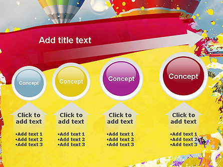 Mottled Colors PowerPoint Template Slide 13