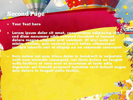 Mottled Colors PowerPoint Template Slide 2