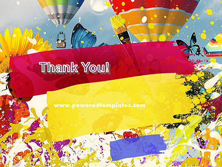 Mottled Colors PowerPoint Template Slide 20