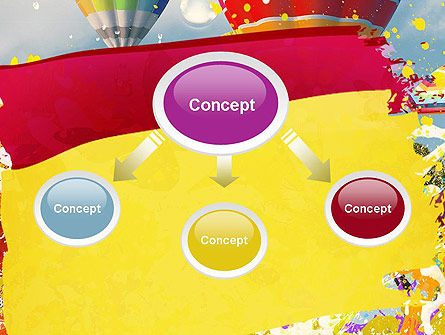 Mottled Colors PowerPoint Template Slide 4