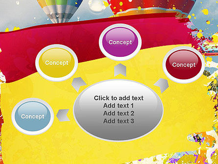 Mottled Colors PowerPoint Template Slide 7