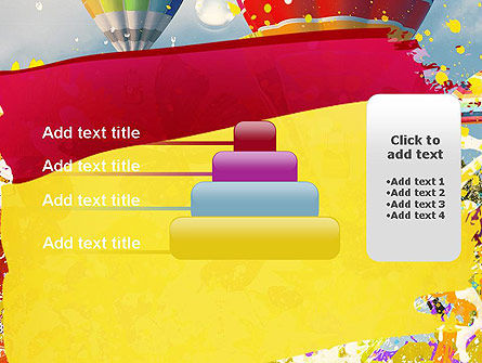 Mottled Colors PowerPoint Template Slide 8