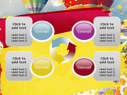 Mottled Colors PowerPoint Template Slide 9