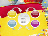 Mottled Colors PowerPoint Template#6