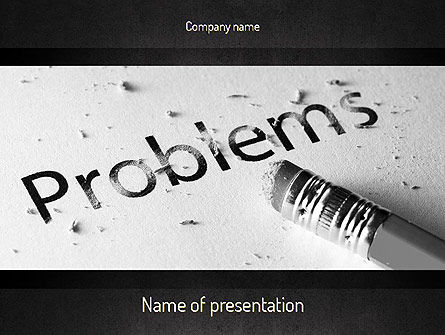 Erasing Problems PowerPoint Template