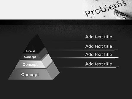 Erasing Problems PowerPoint Template, Slide 4, 11307, Consulting — PoweredTemplate.com