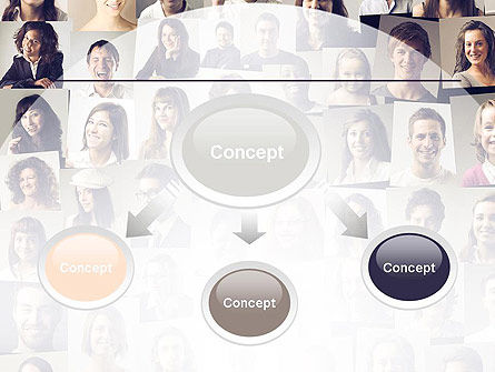 Beautiful Faces Collage PowerPoint Template, Slide 4, 11308, People — PoweredTemplate.com