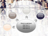 Beautiful Faces Collage PowerPoint Template#7