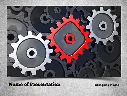 Square Gear PowerPoint Template