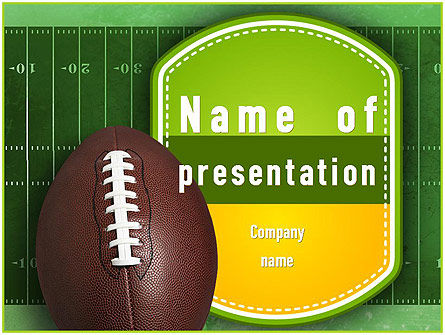 NFL Super Bowl PowerPoint Template, 11313, Sports — PoweredTemplate.com