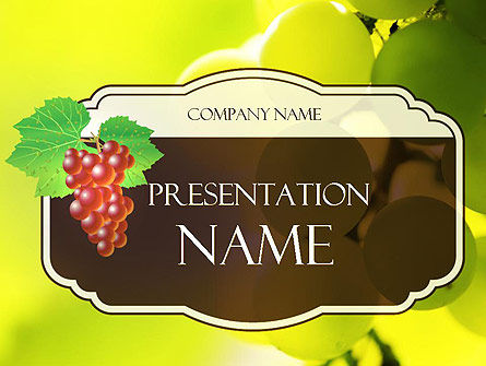 Wine Label PowerPoint Template, 11316, Food & Beverage — PoweredTemplate.com