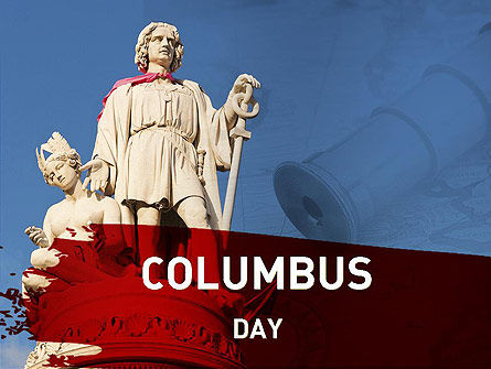 Education & Training: Christopher Columbus PowerPoint Template #11318