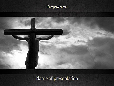 Jesus Cross PowerPoint Template, 11321, Religious/Spiritual — PoweredTemplate.com