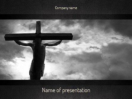 Religious/Spiritual: Jesus Cross PowerPoint Template #11321