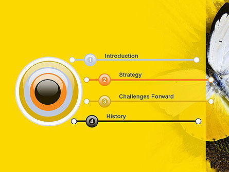 Butterfly on Sunflower PowerPoint Template Slide 3