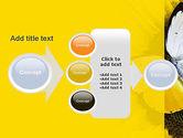 Butterfly on Sunflower PowerPoint Template#17