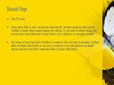 Butterfly on Sunflower PowerPoint Template#2