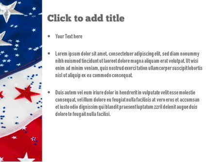 Festive American Flag PowerPoint Template, Slide 3, 11323, Holiday/Special Occasion — PoweredTemplate.com