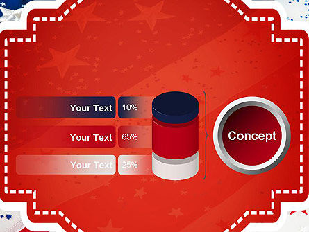Festive American Flag PowerPoint Template Slide 11