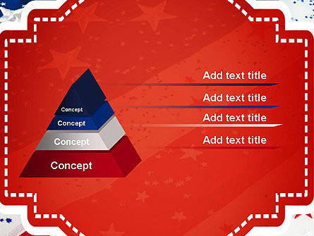 Festive American Flag PowerPoint Template Slide 12
