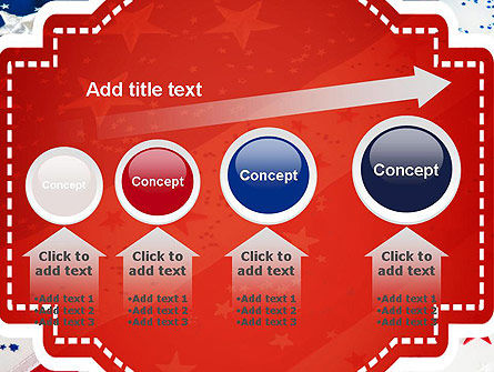 Festive American Flag PowerPoint Template Slide 13