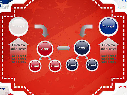 Festive American Flag PowerPoint Template Slide 19